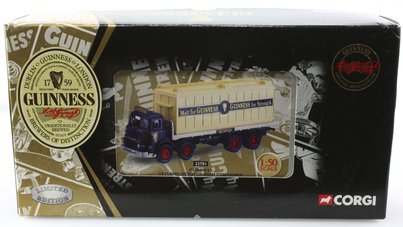 Leyland octopus avec container Guinness 1/50