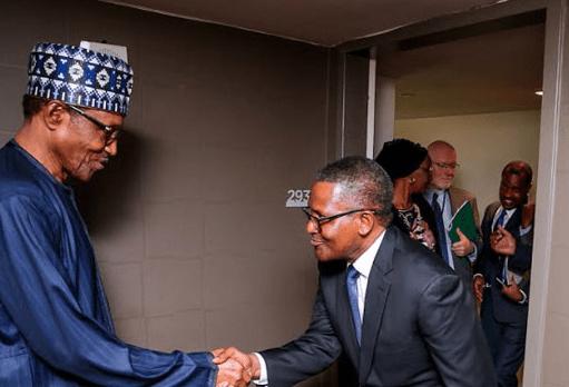 President Buhari praises Aliko Dangote for donating N200m towards the fight against Coronavirus in Nigeria