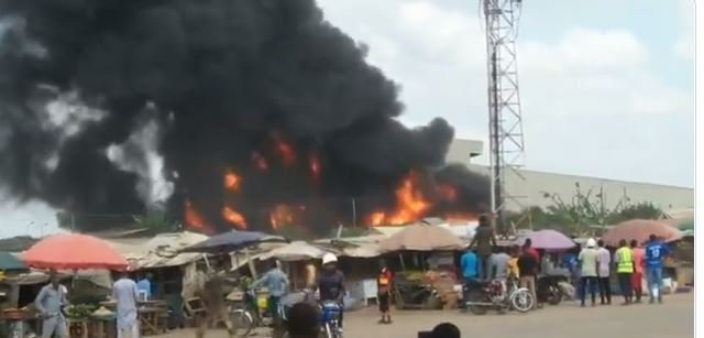BREAKING NEWS: Another Fire Explosion Hit Agboju, Near Abule Ado  [Watch Video]