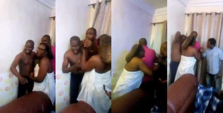 Married woman caught redhanded in bed with Man In Her husband's house (Video)