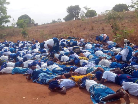 Christian Women Seen Lying On The Road Because of Coronavirus In Benue (Photos)