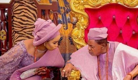 Olori Badirat Ajoke Shares New Photo With Alaafin Of Oyo, Calls Herself 'His Oxygen'