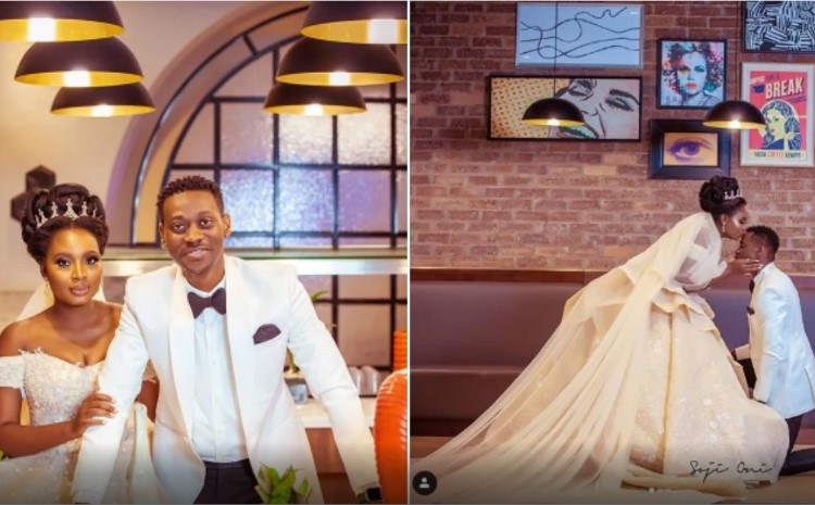 See The Romantic Moment Lateef Adedimeji Sang For His Bride Before Exchanging The Vows