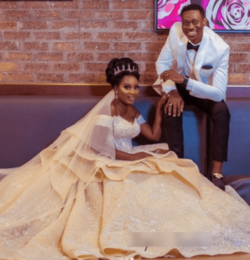 Nollywood actors Lateef Adedimeji and Adebimpe Oyebade wed lailasnews 394x410 1 - See The Romantic Second Lateef Adedimeji Sang For His Bride Earlier than Exchanging The Vows