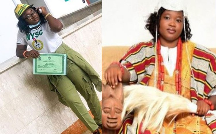 Meet The First Female Traditional Ruler To Attend NYSC Camp While On The Throne (PHOTOS