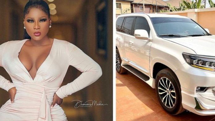 See The Full Gist About Actress Destiny Etiko And Her New Car That She Shared On Social Media