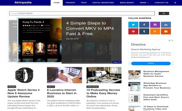 6 Free WordPress Themes for Freelance Blogger