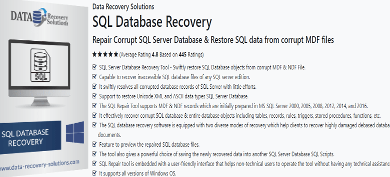 How to repair SQL database Dbcc Checkdb effectively?