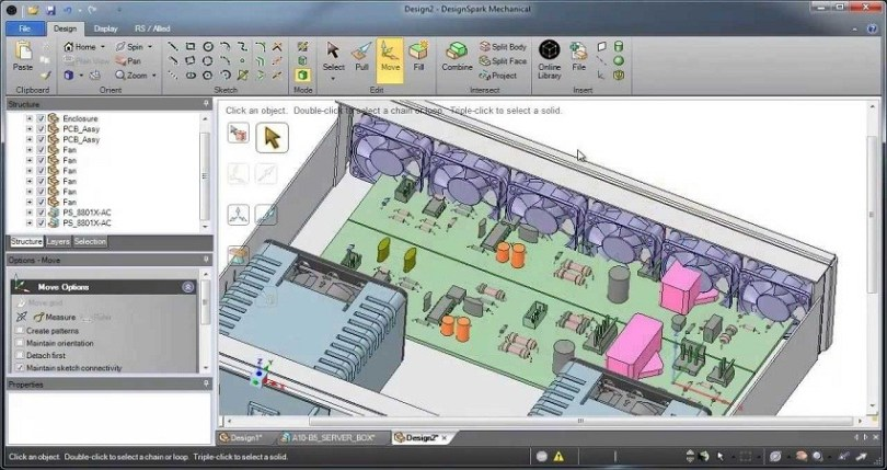 DesignSpark Mechanical Drawing Software Features