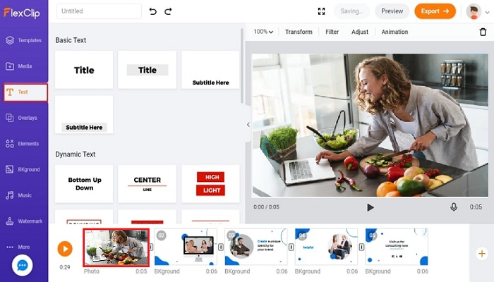 Create a Cooking Video Free