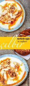Turkish eggs with yoghurt and Aleppo butter (Çılbır) - recipe / A kitchen in Istanbul