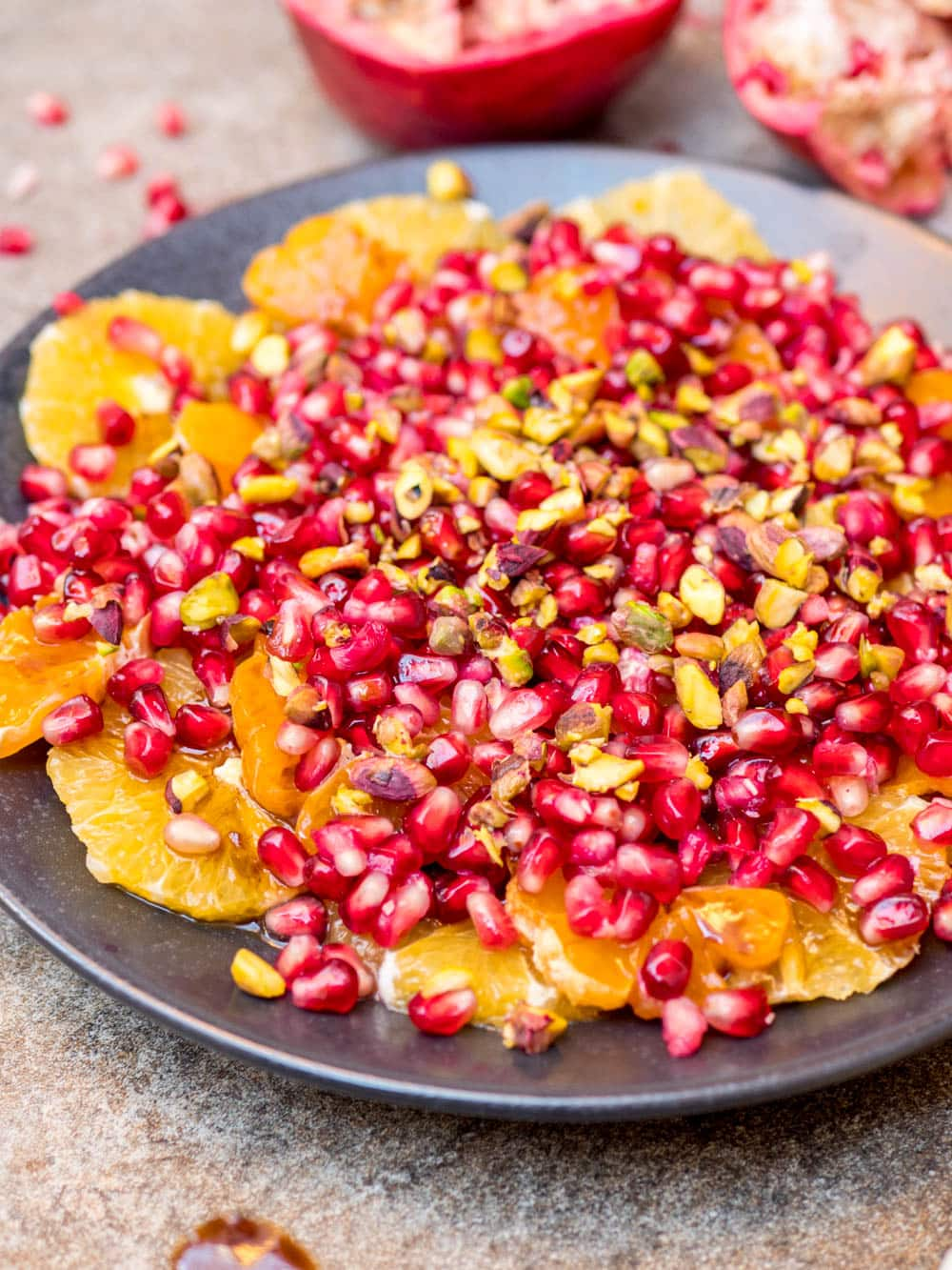 Winter fruit salad with oranges, clementines, pomegranate and spiced syrup - recipe / A kitchen in Istanbul