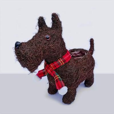 Christmas Dog Planter | AK Kin Garden Supplies