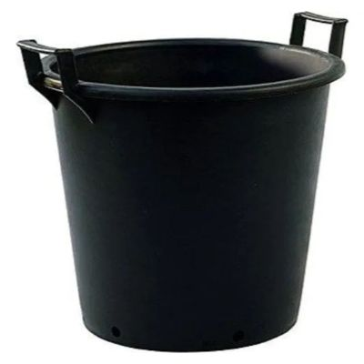 43lt Extra Large Heavy Duty Plastic Tree & Shrub Container Plant Pot with Handles 50 x 37