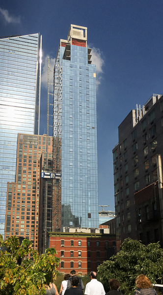 High Line tower under construction, October 2016