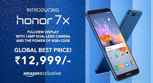Honor 7X With Dual Rear Camera,18:9 Display Launch In India Price,And Space