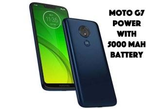Moto G7 Power With 5000mah battery