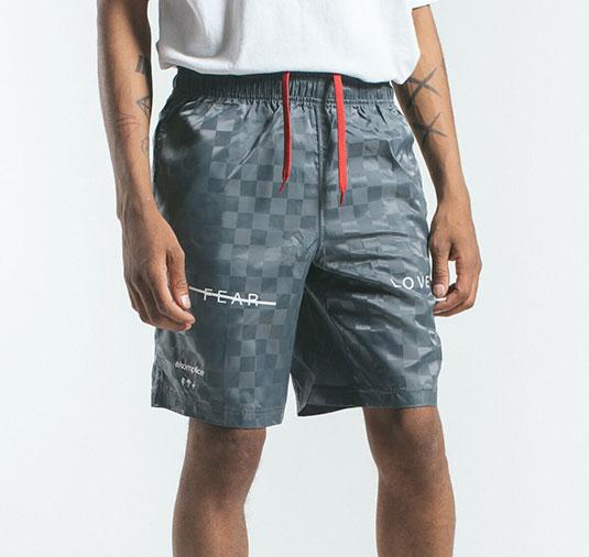 AK X UMBRO Fear Love Checkerboard Shorts