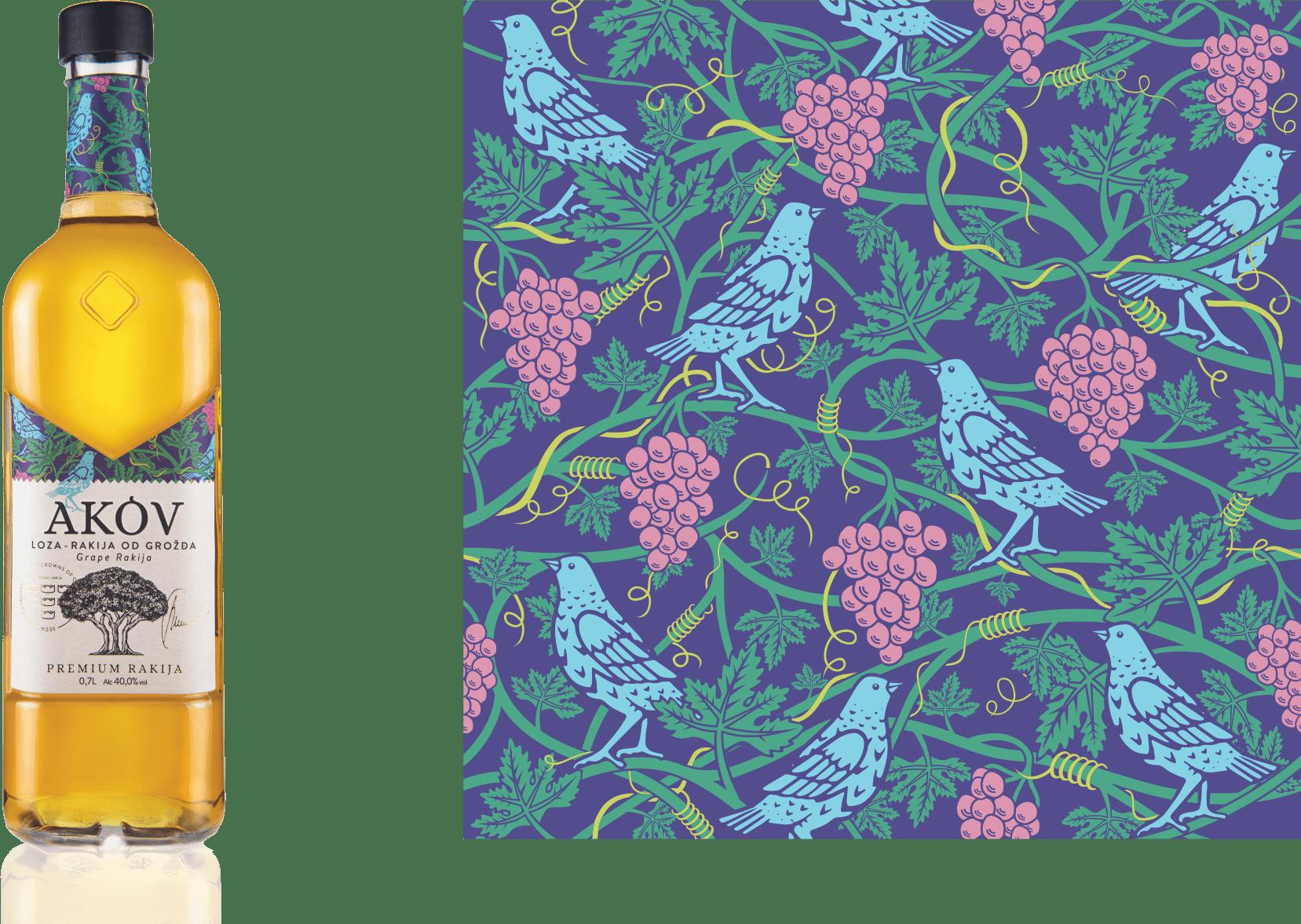 AKOV rakija loza od grozdja