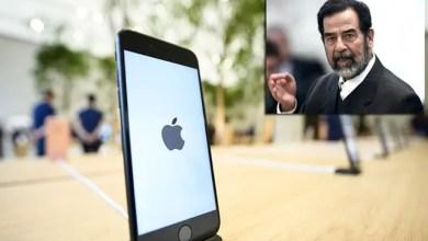 """Photo of صدام حسين يحرم أحد زبائن """" أبل """" من ثمن هاتف """" آي فون """" !"""