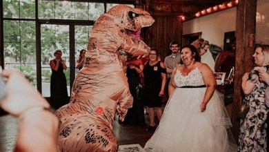 Photo of زوجان أميركيان يصممان حفل زفافهما بطريقة غريبة