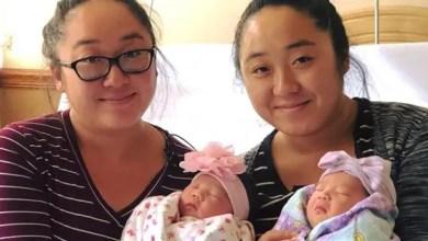 Photo of شقيقتان توأم أمريكيتان تنجبان طفلتيهما في نفس اليوم !