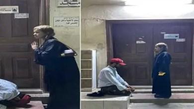 صورة توجيه هذه التهمة لشاب سعودي ظهر ساجداً لفتاة يمنية