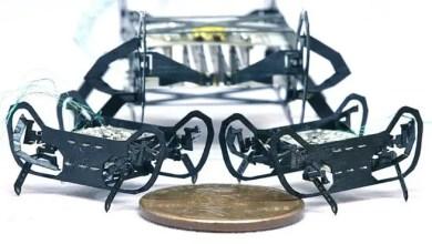 Photo of ابتكار أصغر روبوت في العالم بحجم العملة المعدنية ( فيديو )