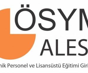 2016 Bahar Dönemi ALES Sınav Sonuçları