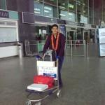 Felicitation at Bangalore Airport