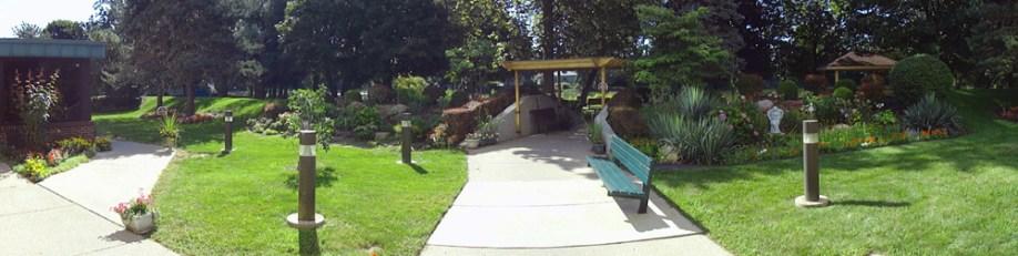 River Park Plaza outside garden