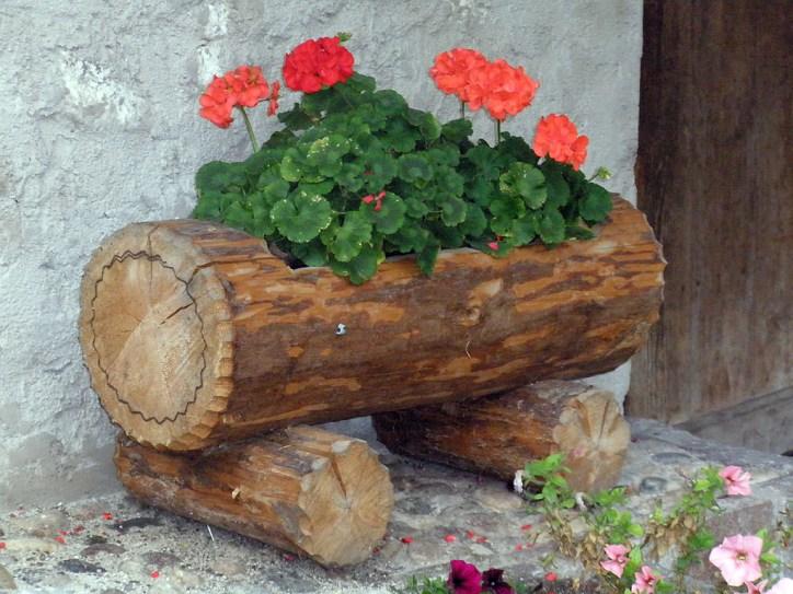 květináč z kulatiny