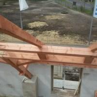 detail tesařské konstrukce