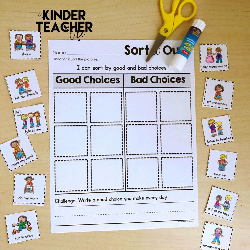 Good Bad Behavior And Worksheet