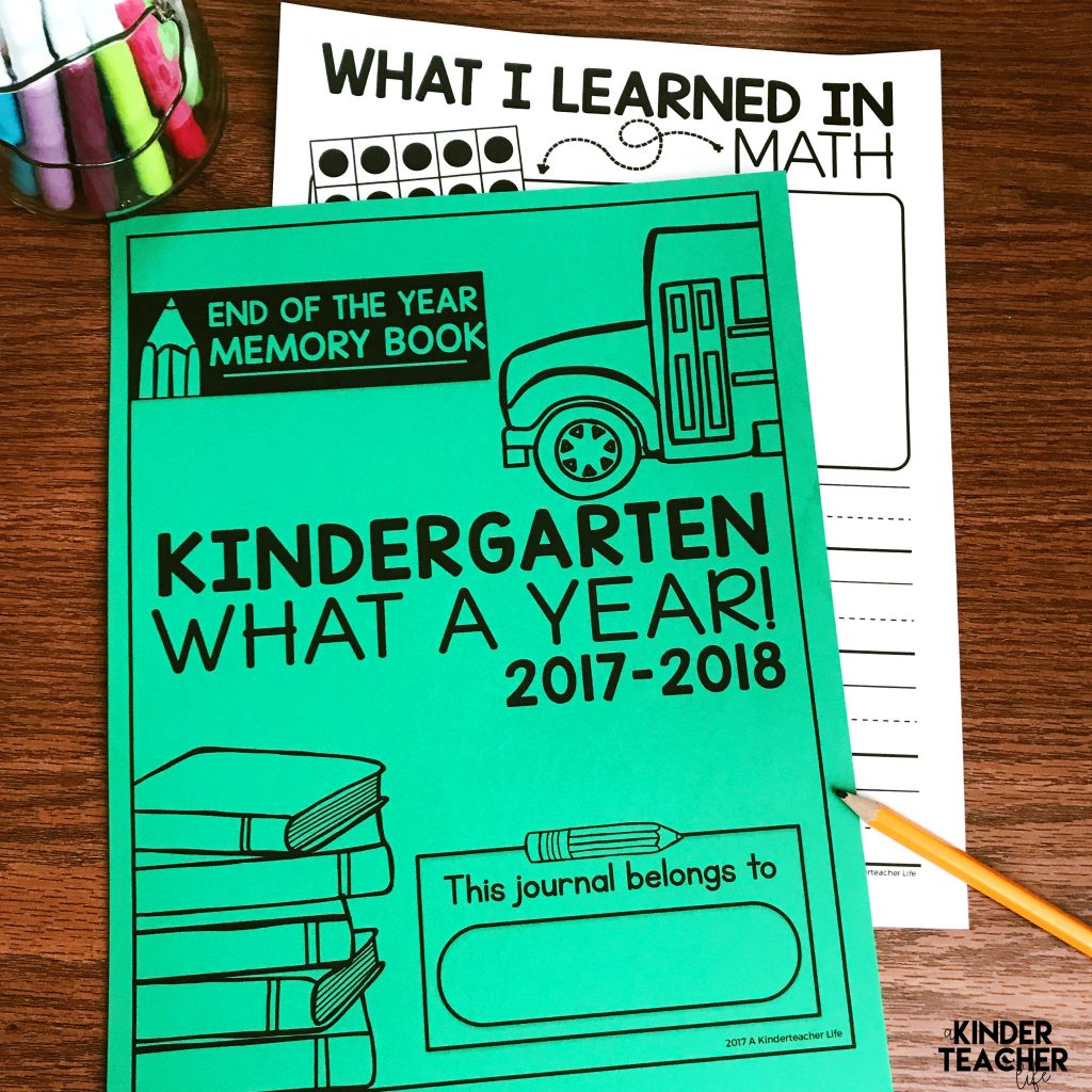 End Of The Year Memory Book Free Printables