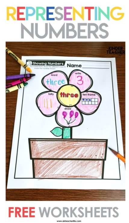 Free Spring-themed math printables