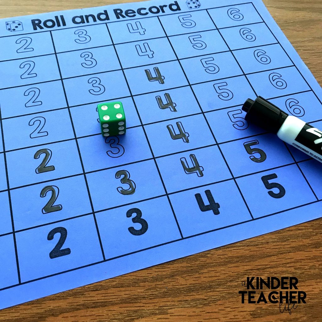 Roll And Record Math Game Freebie
