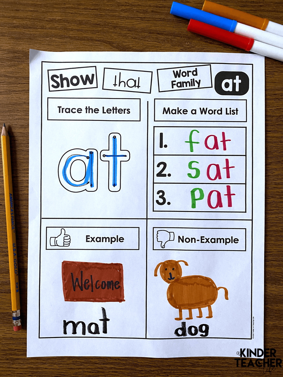 Differentiated Word Family Printables