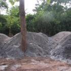Eine LKW-Ladung Sand und Steine für den Beton (2009)