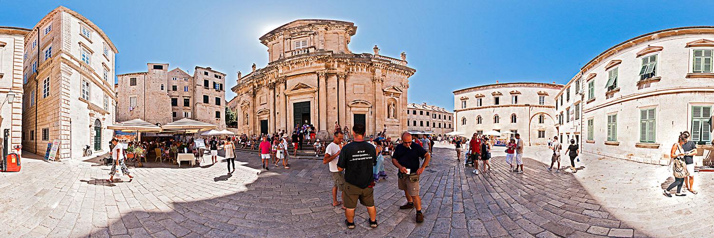 360°-Panorama in Dubrovnik - vor der Kathedrale