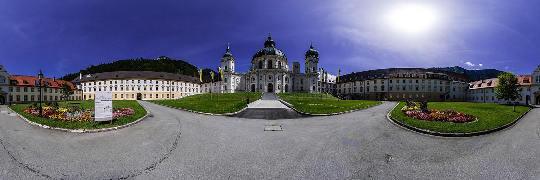 360°-Panorama im Kloster Ettal