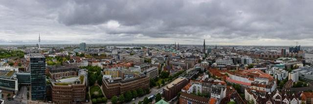 Aussicht auf Hamburg vom Michel