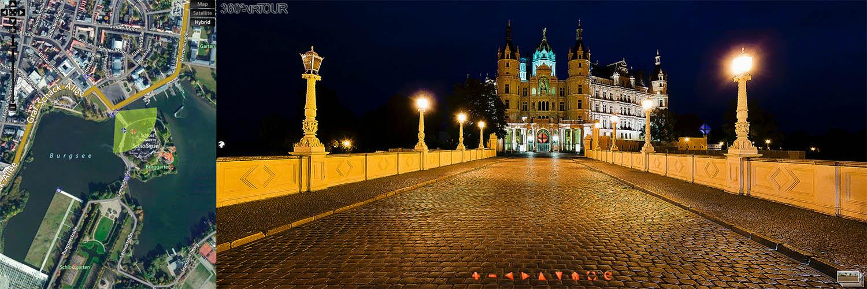virtuelle Tour rund um das Schloss Schwerin und in Schwerin
