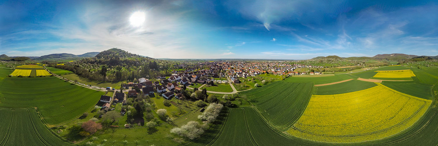 360° Airpanorama in Weilheim an der Teck mit der Limburg