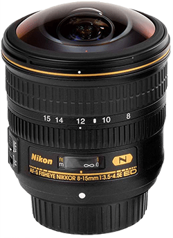 Nikon fisheye 8-15 mm
