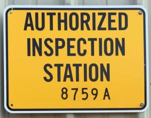 Maryland Safety Inspection station sign