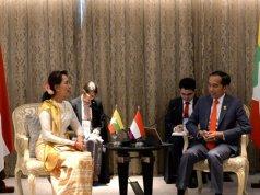 Jokowi bertemu State Counsellor Republik Uni Myanmar Aung San Suu Kyi