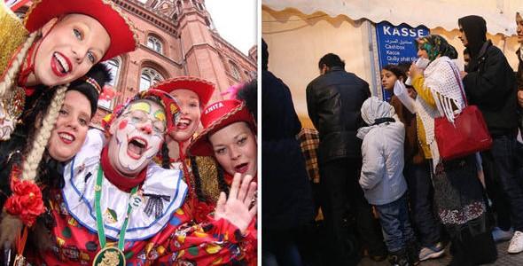 Nemtii isi SCHIMBA stilul de viata. Carnaval ANULAT de frica imigrantilor