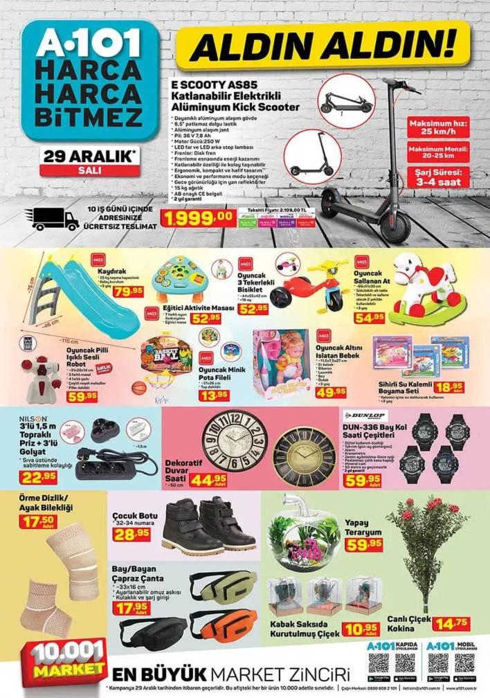 a101 market 29 aralik katalogu