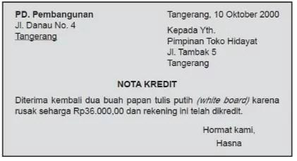 Contoh nota-kredit